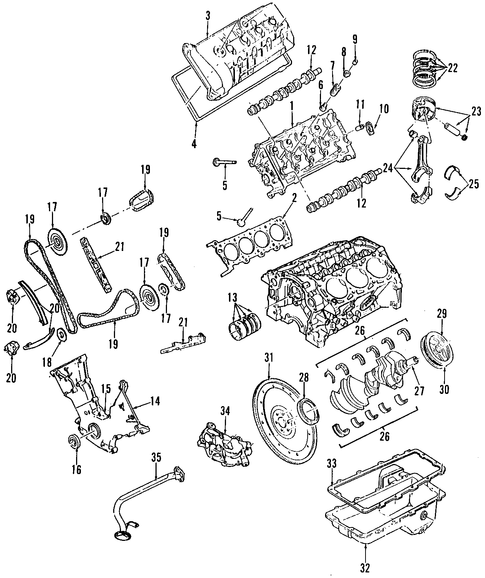 Engine parts for 1996 lincoln mark viii oemfordpart - Lincoln mark viii interior parts ...