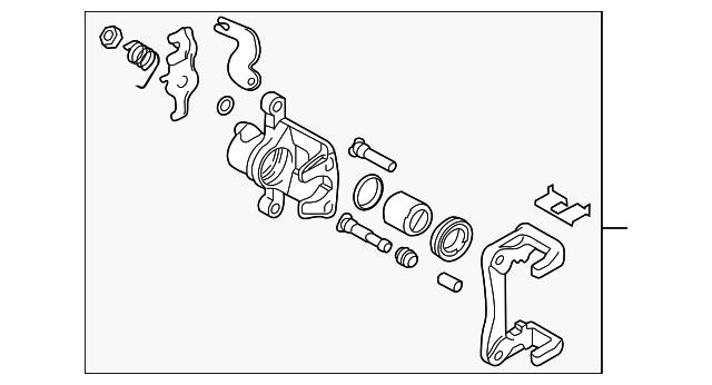 Caliper Kit-Rear Brake Left-Hand
