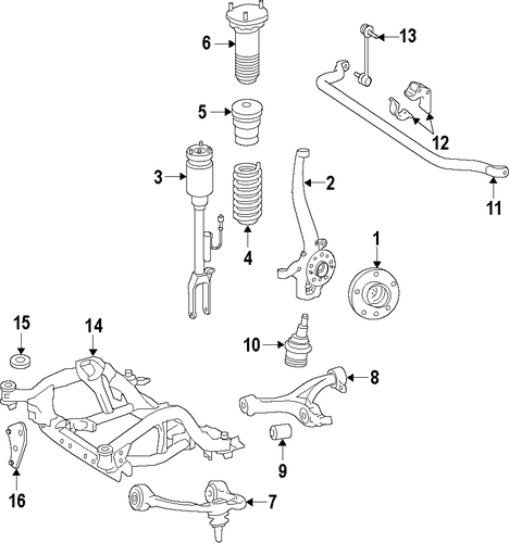 front suspension for 2013 mercedes