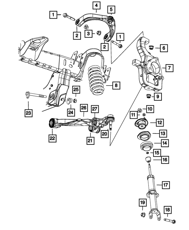 Parts  U0026 Accessories Control Arms  U0026 Parts Parts  U0026 Accessories Genuine Mopar Lower Control Arm