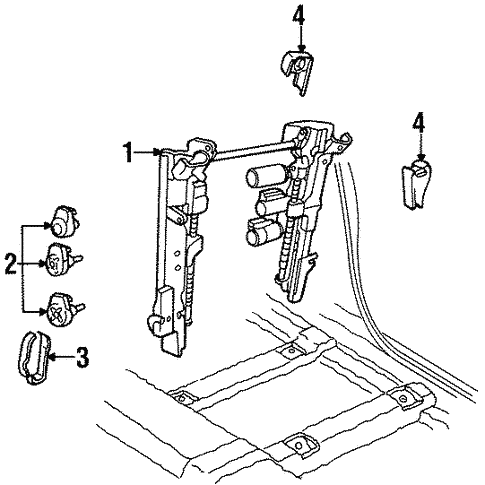 Tracks Components For 1997 Lincoln Continental