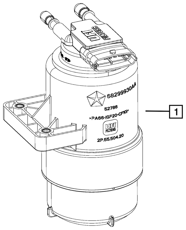 Water Separator Filter 68299930aa
