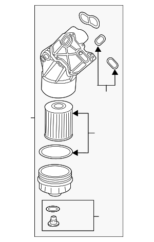 Oil Filter Housing - Volkswagen (03H-115-403-AA)