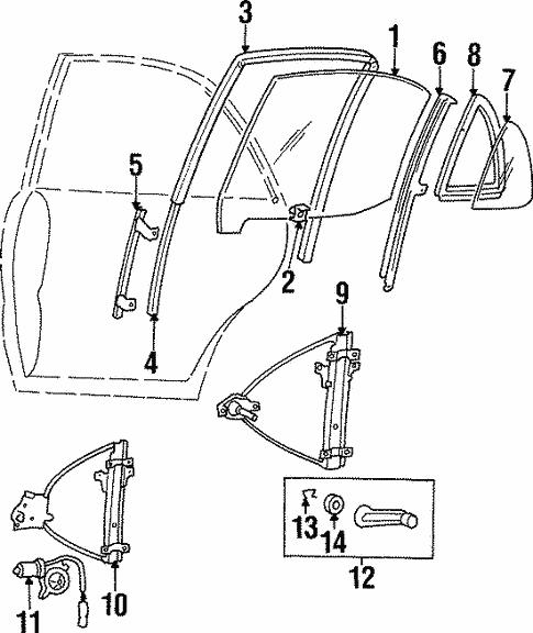 Right Rear Genuine Hyundai 83540-34001 Door Window Glass Run Assembly