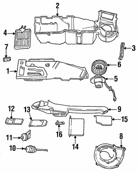 Heater Components for 1991 Chrysler Town & Country #1