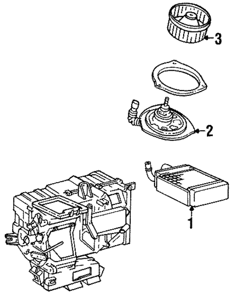 HVAC/Heater Components for 1988 Toyota Tercel #1