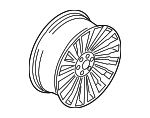 Wheel, Alloy - Ford (JL7Z-1007-D)