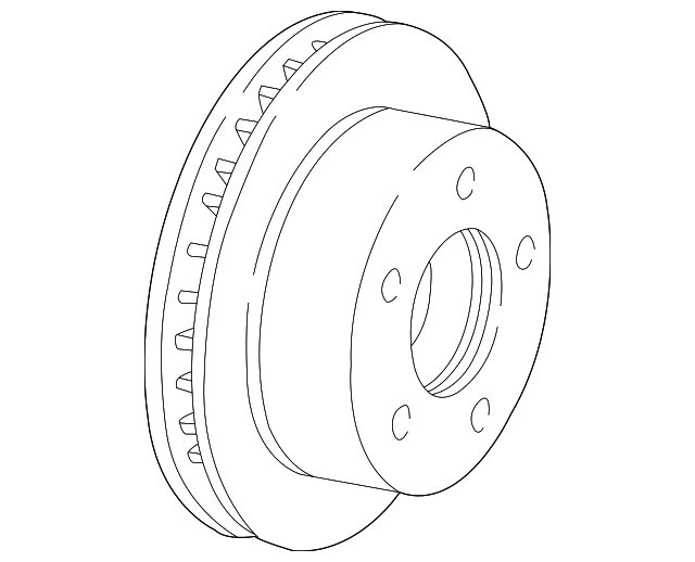 Genuine Ford Disc Brake Rotor 3w1z
