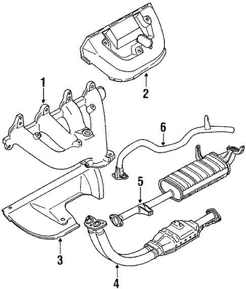 Exhaust Components For 1994 Suzuki Sidekick