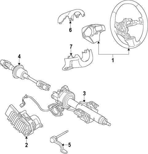 steering column for 2015 chevrolet impala