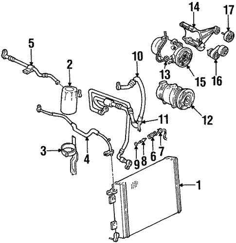Condenser Compressor Lines For 2002 Pontiac Firebird
