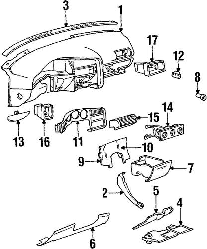 oem 1994 oldsmobile achieva controls parts