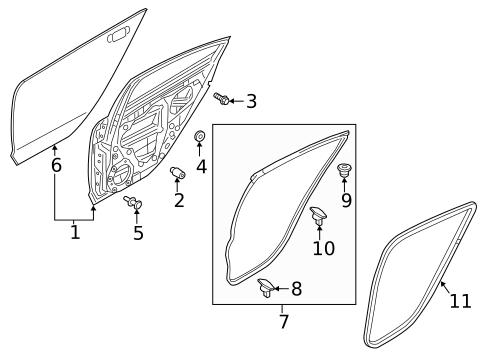 mazda 6 door parts diagram