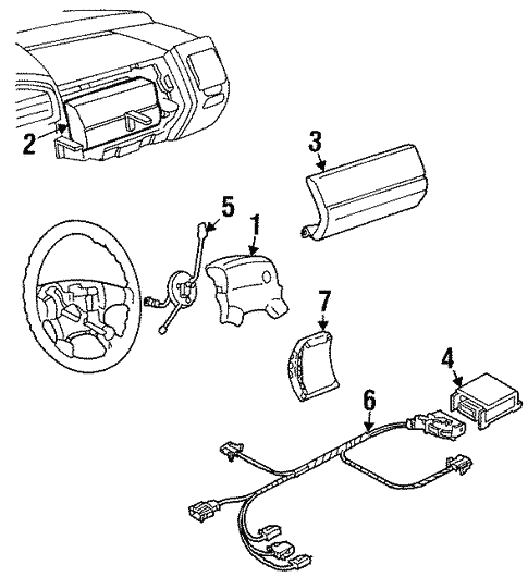 Air Bag Components For 1997 Volkswagen Jetta