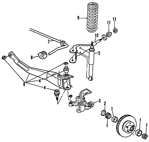 1996 Ford Ranger Suspension Diagram