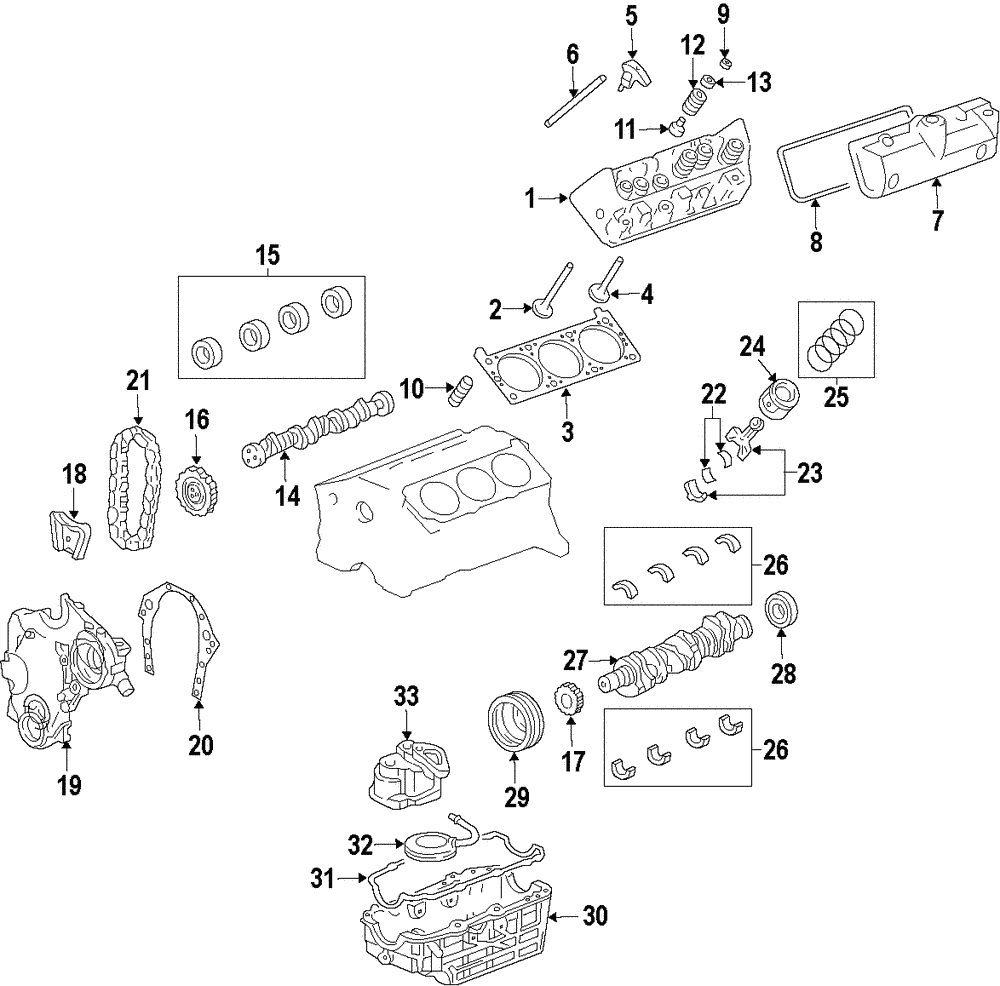 Genuine Gm Engine Crankshaft Main Bearing 89017857