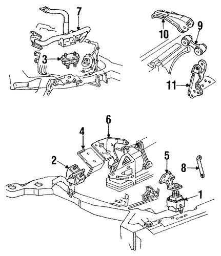 oem engine  u0026 trans mounting for 1992 cadillac eldorado