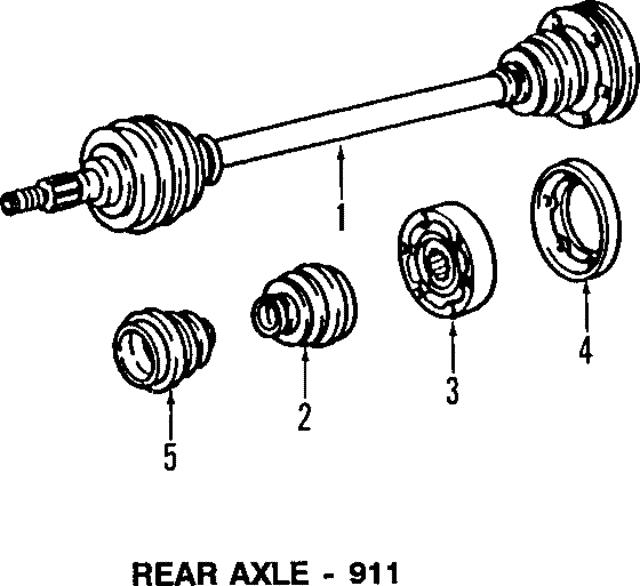Axle Assembly - 1990-1994 Porsche 911 (964-332-024-18 ...