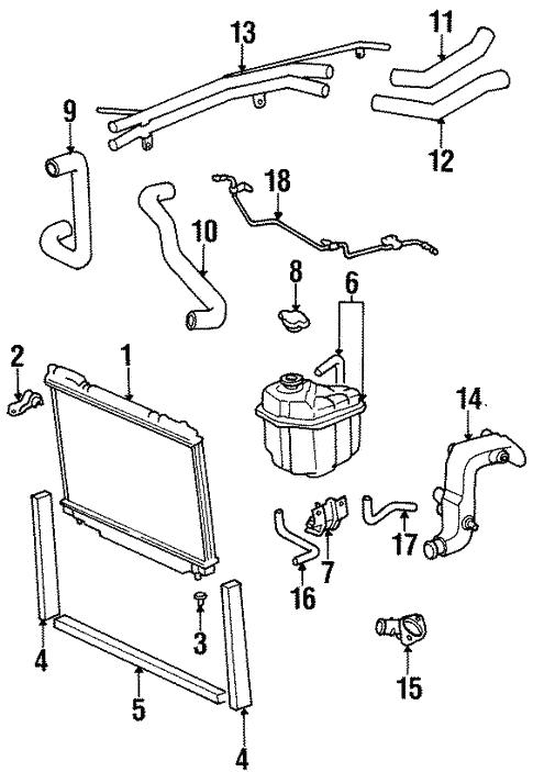 Toyota Previa Cooling System Diagram