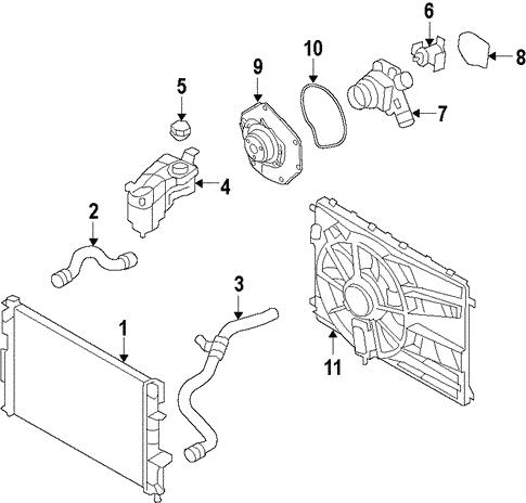 cooling system for 2008 land rover lr2 land rover parts. Black Bedroom Furniture Sets. Home Design Ideas