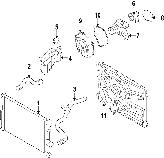 Thermostat Unit - Land-Rover (LR003203)