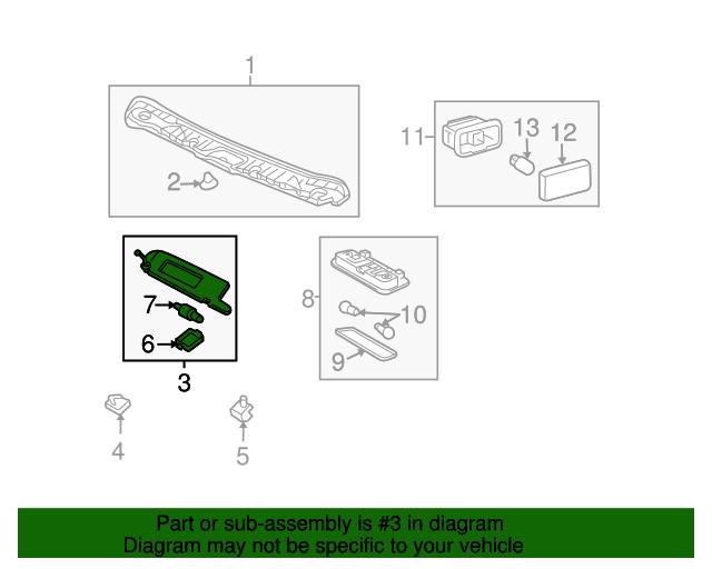 TOYOTA Genuine 74310-42591-B1 Visor Assembly