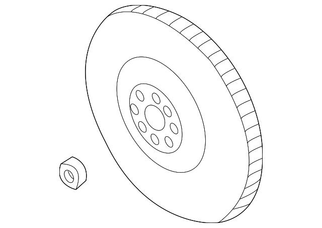 2003 2005 Subaru Flywheel 12342aa071
