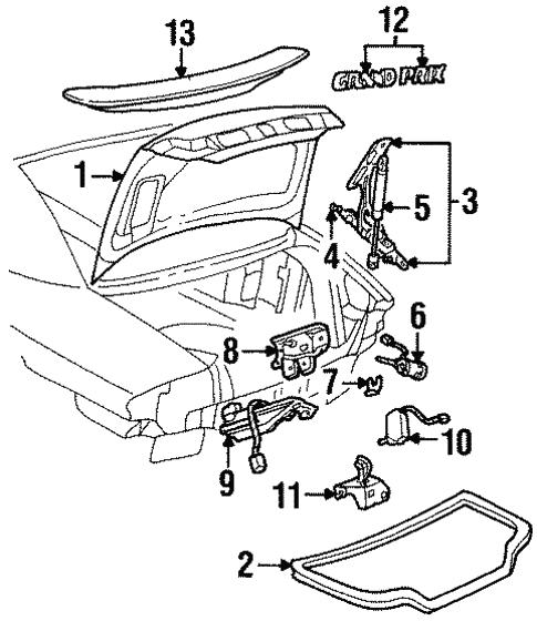 trunk for 2002 pontiac grand prix