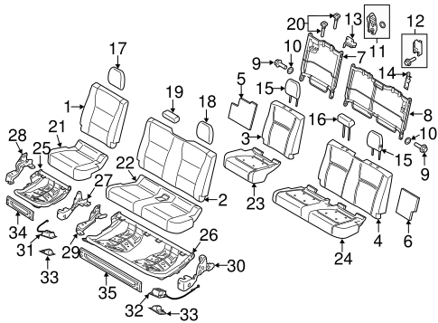 Rear Seat Components For 2018 Ford F 150