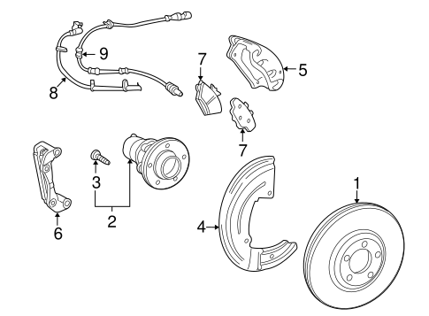 Rear Anti-Lock ABS Wheel Speed Sensor Left for Five Hundred Freestyle Taurus