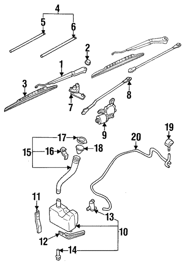 Wiper Arm - Nissan (28881-70F03)