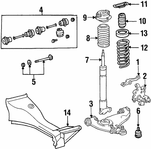 Suspension Components for 1994 Mercedes-Benz E 320 #1