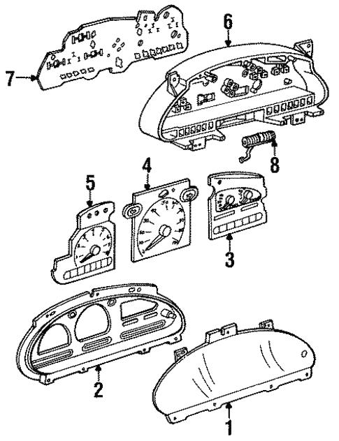 Instruments Gauges For 1998 Mercury Villager