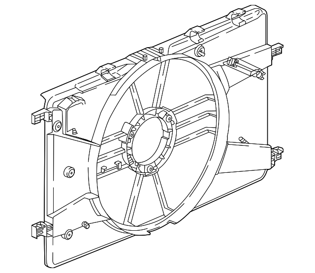 Genuine GM Shroud-Eng Cool Fan 22980297
