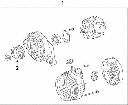Genuine OEM Alternator Parts for 2016 Toyota Tacoma TRD Sport ... on miata alternator wiring diagram, celica alternator wiring diagram, taurus alternator wiring diagram, camaro alternator wiring diagram, s10 alternator wiring diagram,
