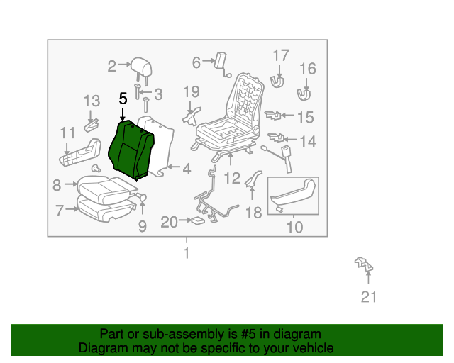 TOYOTA Genuine 71076-0C241-E2 Seat Cushion Cover