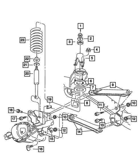 Genuine Mopar Upper Shock Cup Bracket Mounting 68194635AA