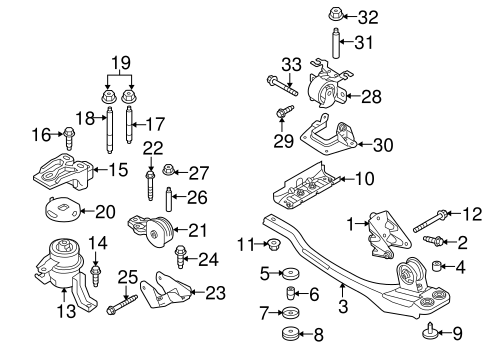 engine trans mounting   ford escape tascapartscom