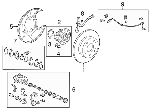 Hose Set, L Rear Brake (Disk)