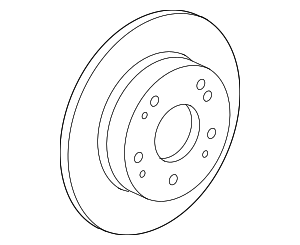 Rear Brake Rotor Set (Mugen) - Honda (43250-XVJ-000)