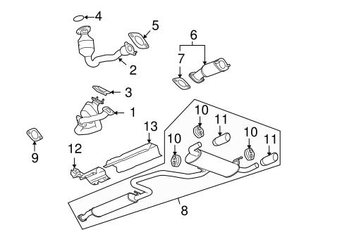 2008 pontiac g6 fuse diagram 2008 pontiac g6 exhaust diagram converter amp pipe gasket gm 15922444 gmpartsnow