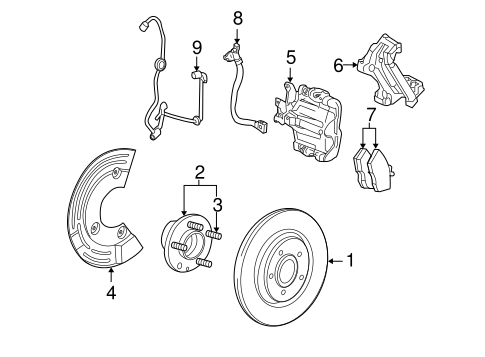 Brakes/Anti-Lock Brakes for 2009 Ford Taurus #2