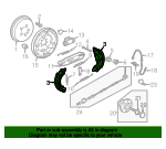 Brake Shoes - Volkswagen (5C0-698-545)
