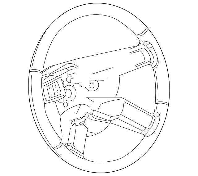 Genuine Chrysler 1AG561DVAA Steering Wheel