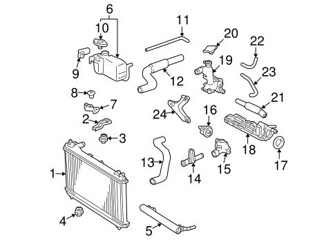 Genuine Oem Radiator Components Parts For 2000 Toyota Solara Sle