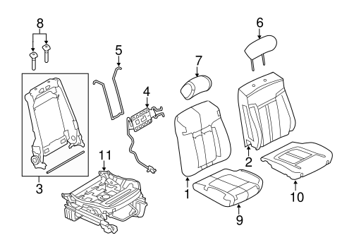 Front Seat Components For 2013 Ford F 150