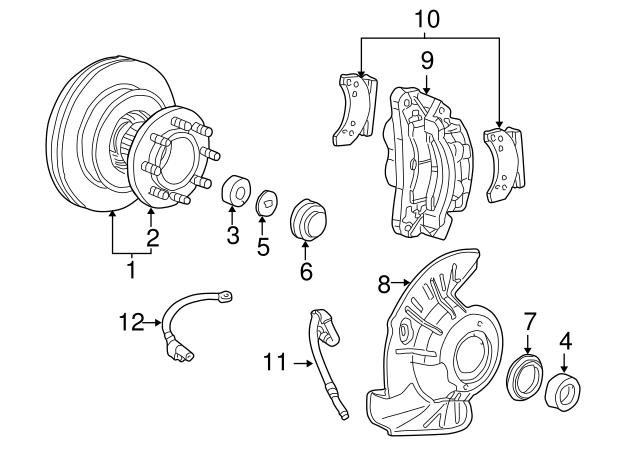 Genuine Ford Hub /& Rotor 1C3Z-1V102-BB