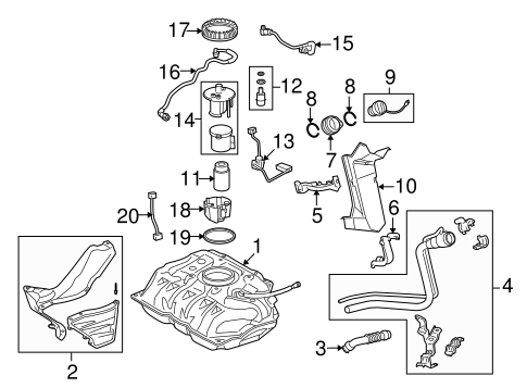 FUEL SYSTEM/FUEL SYSTEM COMPONENTS for 2013 Scion xD #1