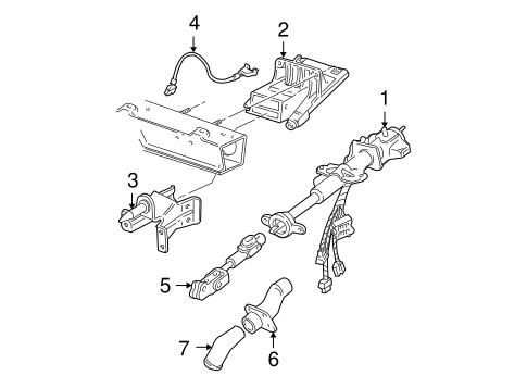 Steering Column Assembly For 1998 Chevrolet Venture Gm Parts Online