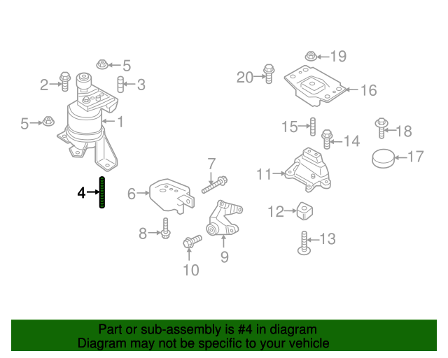 Ford Edgelincoln Mkx Engine Mount M12 X 47 28 Stud Rhtascaparts: Mkx Engine Diagram At Gmaili.net